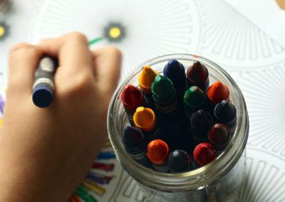Crayons tekenen