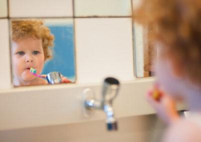 Kind tandenpoetsen